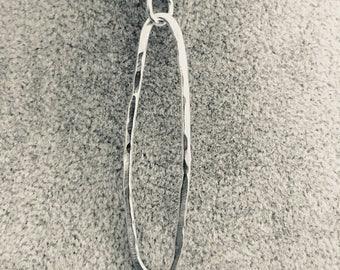 Handmade sterling silver hammered pendant