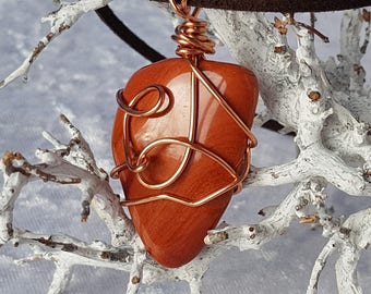 Wire wrapped Jaspis