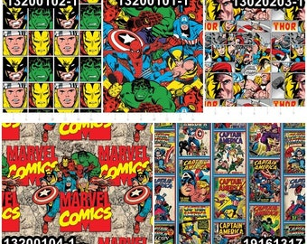 Marvel Comic Cotton Fabric by Camelot! 10 Options [Choose Your Cut Size]