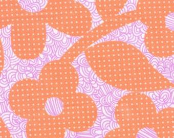 01820 - 1/2 yard of  Erin McMorris Weekends Dots and Loops in peach