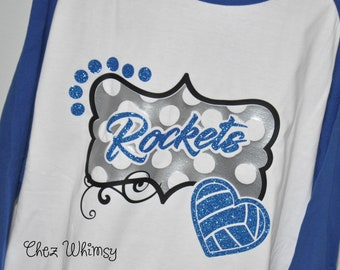 Volleyball Shirts, Vball Shirts, Volleyball Shirts for Women, Volleyball Mom, Glitter Game day Shirt, Glitter Volleyball Tee, Volleyball