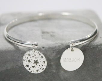 Custom-made engraving Constellation Bangle Bracelet * custom Creation *.