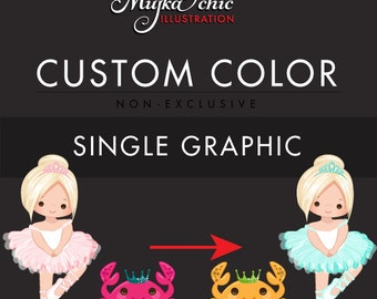Custom Color Change for Single Graphic. Non-exclusive Pre-made sets color change. Recoloring existing clipart