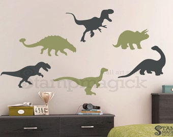 Dinosaur Wall Decal for Nursery - Dinosaur Decal - Dinosaur Vinyl Stickers - Dinosaur Wall Art Prehistoric Baby Wall Decor Boys room - K195