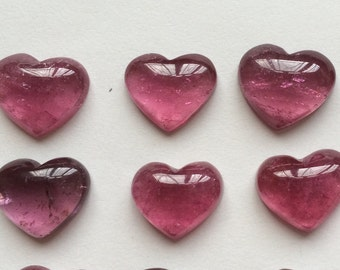 High Quality Rubellite Pink Tourmaline Cabochon Heart One Piece G6866