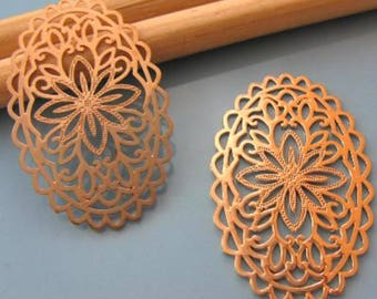 2 filigree connectors prints light - copper Dim:18x30mm # M22
