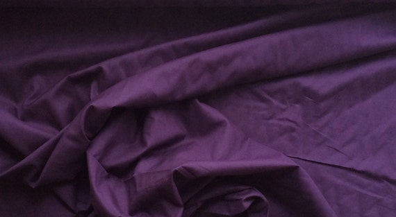 High quality cotton lawn dyed in Japan, eggplant