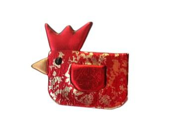 Little Red Hen Pin, Chicken Jewelry, Red Hen Jewelry, Hen Magnet, Hen Pin, Poultry Jewelry