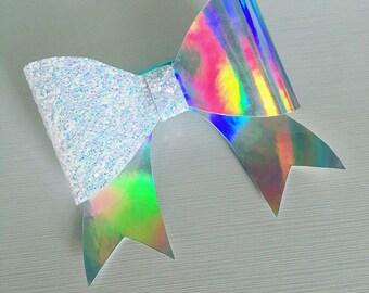 Cheer bow hair bow glitter shiny mirror