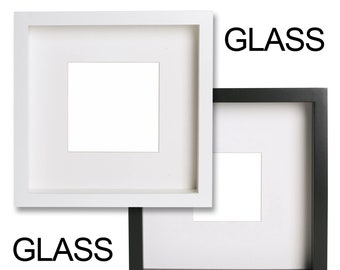 7 x Glass Front Replacements 23cm x 23cm Ikea Ribba Picture Photo Frames (2mm thick)