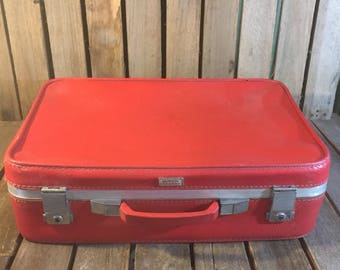 Vintage Red Amelia Earhart Suitcase
