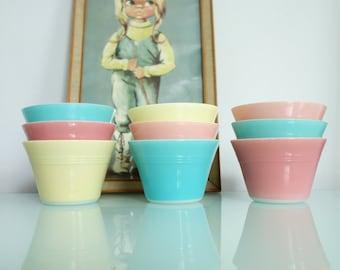 JAJ Pyrex Vintage Ramekins - Custard Cups - Pastel - Vintage Ramekins - Kitchenware - Pyrex