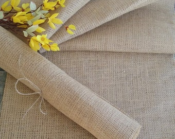 Burlap Table Runner - Rustic Country Barn Vintage Wedding - Farmhouse Table Decor - Holiday Table - Party Decor - 12inch