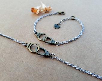 2 Partners in crime Bracelets   Best Friends Bracelets   Handcuffs Bracelets   Matching Bracelets   Friendship Bracelets   Bff bracelets