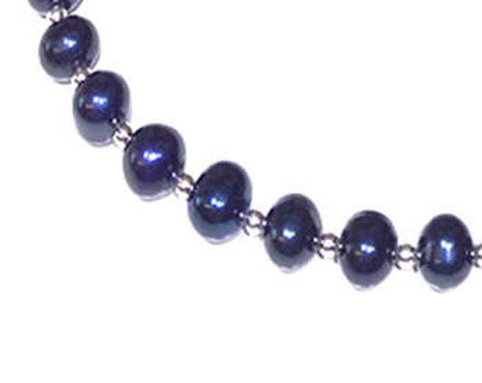 Blue/Black AAA Grade Freshwater Pearl Necklace
