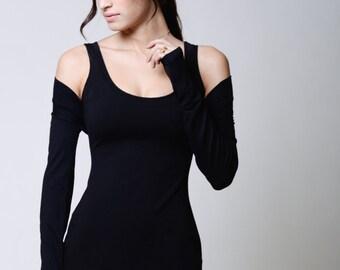Shrug Bolero / Long Sleeves / Fitted Bolero / Long Sleeve Shrug / Cropped Shrug / Evening Cover Up / Marcellamoda - MC0066