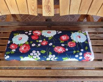 One Week Sale - 8.99 A Yard - The Good Life Fabric  -  Bonnie Camille Floral Scrumptious Dark Blue - 5515016