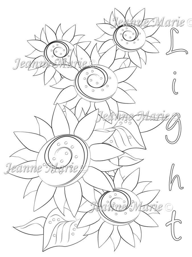 Download Printable Coloring Page Jeanne Marie Creative Sold By JeanneMarieCreative This Is A Digital File