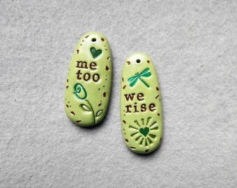 Life Message Pendants/Women's Movement Jewelry - Me Too, We Rise