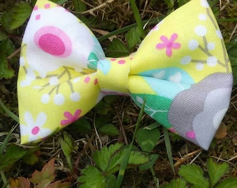 3 inch Fabric Hairbow on alligator clip