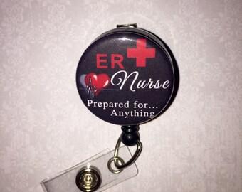 Personalized Badge Reel ER nurse