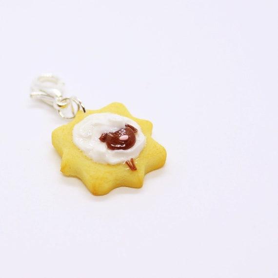 Sheep Sugar Cookie Charm - Stitch Marker - Progress Keeper - Bracelet Charm - Ready to ship