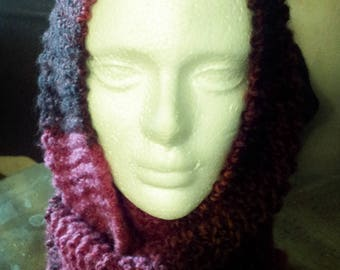 Gift Item Infinity Hooded Cowl Scarf Color Barcelona 100% Acrylic Adult