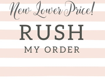 SALE price Wedding tree Guest Book finger print. RUSH ORDER Add-on