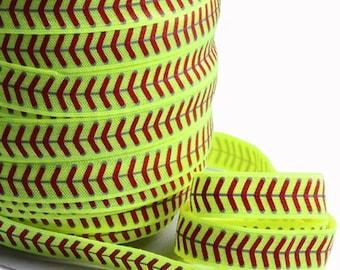 Softball fold over elastic softball elastic softball lace elastic DIY headband elastic softball hair ties softball FOE sports elastic craft