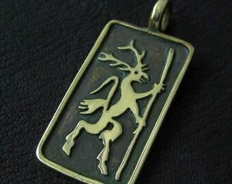 Bronze Rübezahl pendant