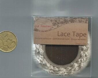 Adhesive lace: Lace Tape Ecru - 17mm x 2 m
