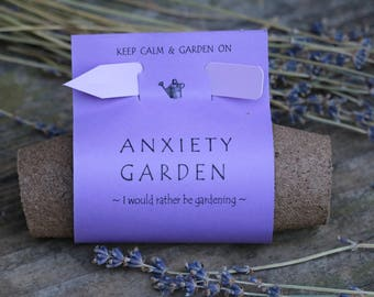 Anxiety relief garden kit seed starting supplies anxiety tools garden gift seed kit diy kit anxiety aids anxiety relief anxiety awareness