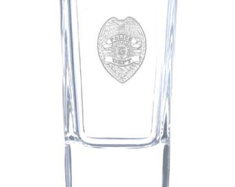Police Department 2.5 Ounce Personalized Shot Glass
