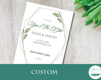 Save The Date, Custom, Printable, Instant Download PDF, Template