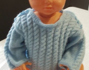 knit newborn baby sailor made-