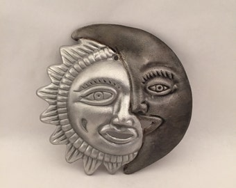 Sun and Moon Decorative Art - Indoor/Outdoor - Cast Aluminum