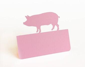 Pig Place Cards, Meal Choice, pork, wedding place cards, escort cards, BBQ. outdoor wedding, farm wedding