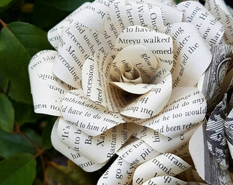 The Never ending Story Book Bouquet-Book lover gift-Book Bouquet-Book decor- Unique Gift- Bridal Bouquet- Paper flowers -Wedding- Valentines