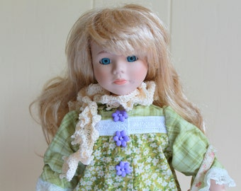 Rescued Vintage 15 inch Doll with Brand New Dress