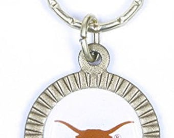 Texas Longhorns Keychain & Keyring - Circle
