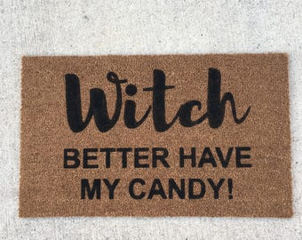 With better have my candy painted custom doormat