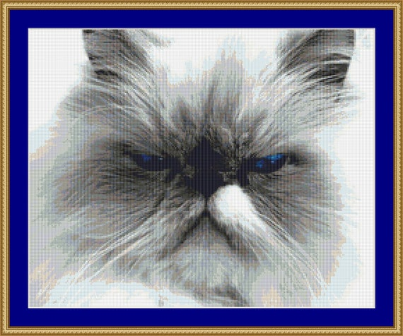 Old Blue Eyes Cross Stitch Pattern /Digital PDF Files /Instant downloadable