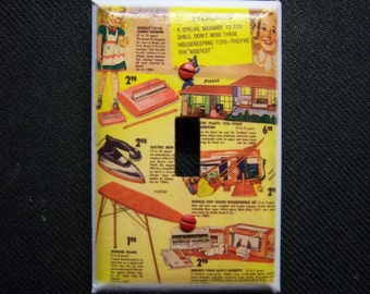 Light Switch Cover 1950s Collage Print