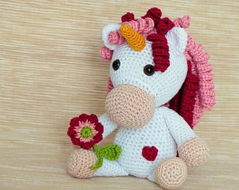 PDF: Adele, the Unicorn Princess - Amigurumi Crochet Pattern