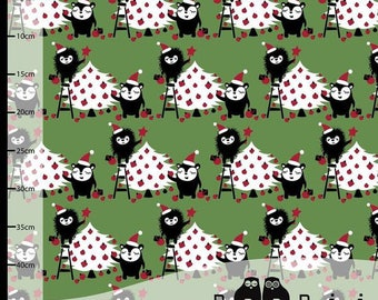 PaapPii organic jersey in red, christmas fabric scandanavian fabric, Finnish fabric, 95% cotton fabric, red knit fabric, jersey knit