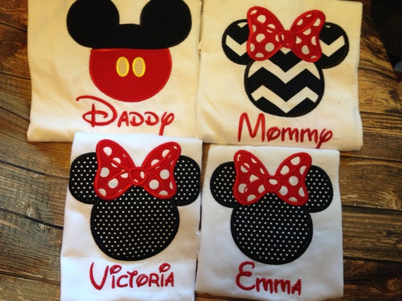 Family Disney Vacation matching shirts-family disney shirts-family vacation  matching shirts-personalized disney shirts-embroidered disney