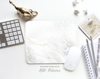 Marble Mousepad White Marble Mouse Pad Mouse Mat Mouse Pad Office Mousemat Rectangular Mousemat White Marble Print Mousepad Round 77.