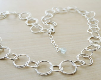 Silver Circles Necklace - Sterling Silver