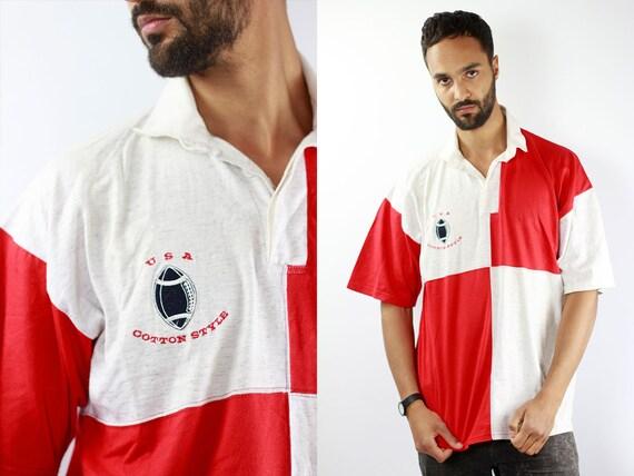 Vintage Poloshirt 90s Poloshirt Checked T-Shirt Checked T Shirt Vintage Polo Shirt 90s T-Shirt 90s T Shirt Oversize T Shirt XL T Shirt
