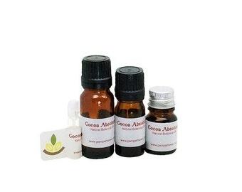 Natural cocoa absolute oil, Theobroma Cacao absolute oil, Botanical chocolate precious oil, Natural perfume, Skincare product fragrance